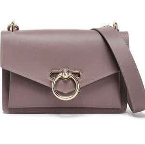 Rebecca Minkoff pebbled leather crossbody bag.